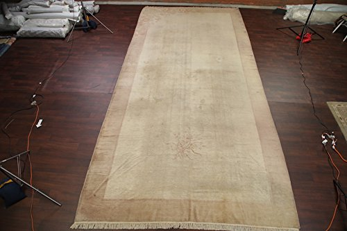 Pre-1900 Antique Art Deco Nichols Chinese Oriental Rug 9x18 For Living Room (18' 5'' X 8' 10'')