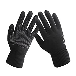 CoCocina Women's Touch Screen Gloves Warm Anti-skid Winter Glovers For iPhone Samsung Huawei Xiaomi -Black