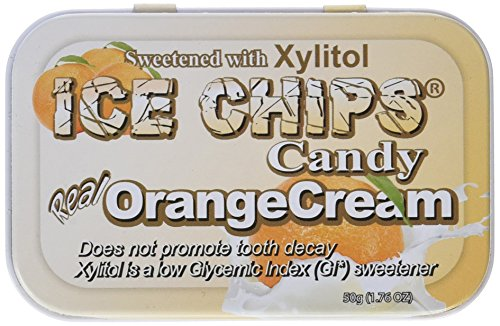 Ice Chips Hand Crafted Candy Tin Orange Cream -- 1.76 oz