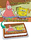 Spongebob You Know What's Better Than 24 Edible Cake Topper Image Personalized Birthday 1/4 Sheet Custom Sheet Party Birthday Sugar Frosting Transfer Fondant Image ~ Best Quality Edible Image for cake