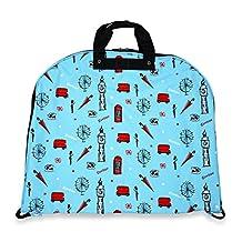 Ever Moda Blue London 40-inch Hanging Garment Bag