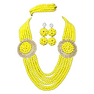 Amazon.com: AMYNOVA 6 Rows Yellow African Costume Women