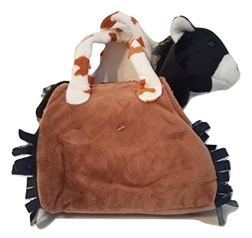 My Cuddly Pony I Love Horses Stuffed Plush Western Pony and Buckskin design Travel Bag Purse