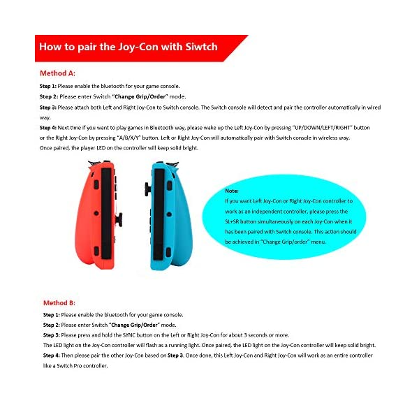 Wireless Joy Con Controller for Ninteodo Switch, CuleedTec Joy Pad Controllers (L/R) with Gyro and Gravity for Switch as… 5