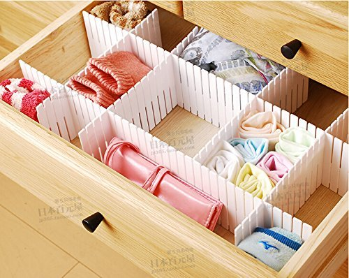 Duroetui Adjustable Plastic Drawer Closet Grid Divider Tidy Organizer Container Home Storage (45cm X 7cm ( 18