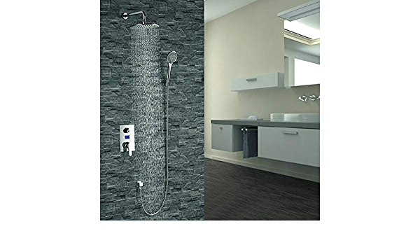 Fontana Mendoza Intelligent Chrome Shower Set With Digital Display Fs121emc Modern Design Contemporary Single Handle Brass Material Auto Thermostat Control Wall Mount Amazon Com