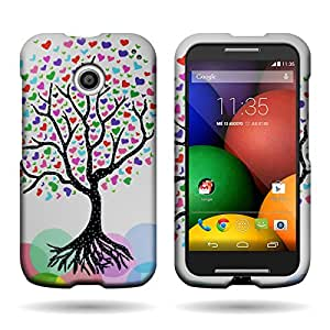 CoverON Slim Hard Case for Motorola Moto E with Cover Removal Tool - (Love Tree)