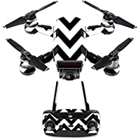 Skin for DJI Spark Mini Drone Combo - Black Chevron| MightySkins Protective, Durable, and Unique Vinyl Decal wrap cover | Easy To Apply, Remove, and Change Styles | Made in the USA