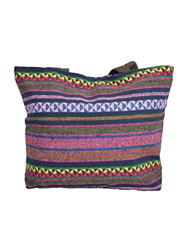 TATTOPANI Borsa da spiaggia, Multicolore (Multicolore) - TP-CH-BAG-06