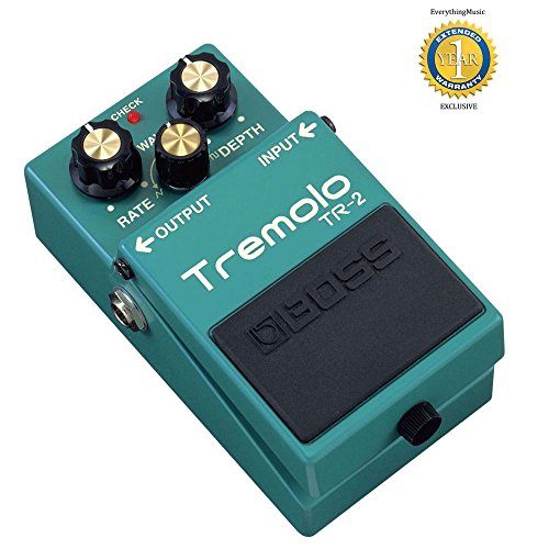 Boss TR-2 Vintage Tremolo Pedal with 1 Year Free Extended Warranty