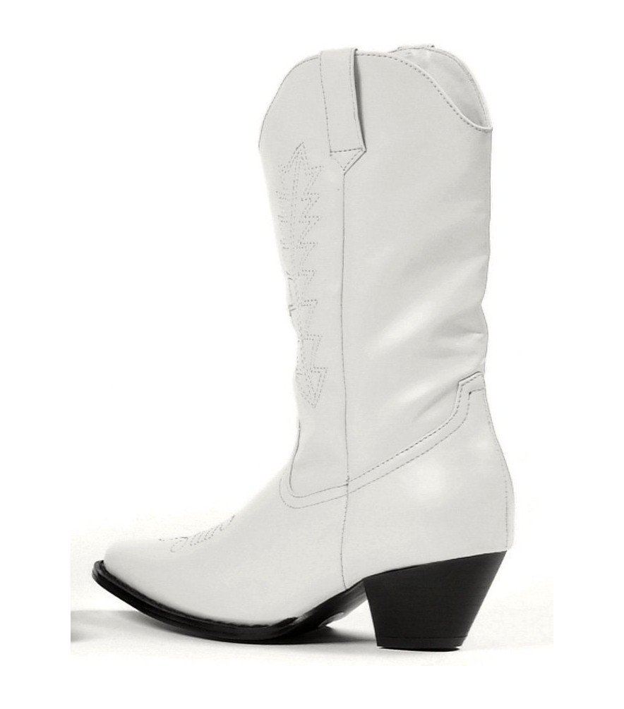 Rodeo Boots - White Child Shoes - Medium (13/1)