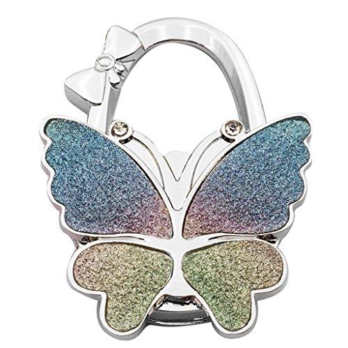 Bag Magnets (MagiDeal New Stylish Foldable Bag Purse Handbag Hook Hanger Holder - Butterfly Shape - Colourful)