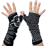 The Raven by Edgar Allan Poe - Fingerless Writing Gloves