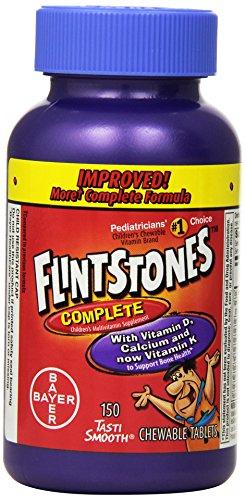 Complete multivitamines à croquer Comprimés, bouteilles 150-Count de Flintstones enfants (pack de 2)