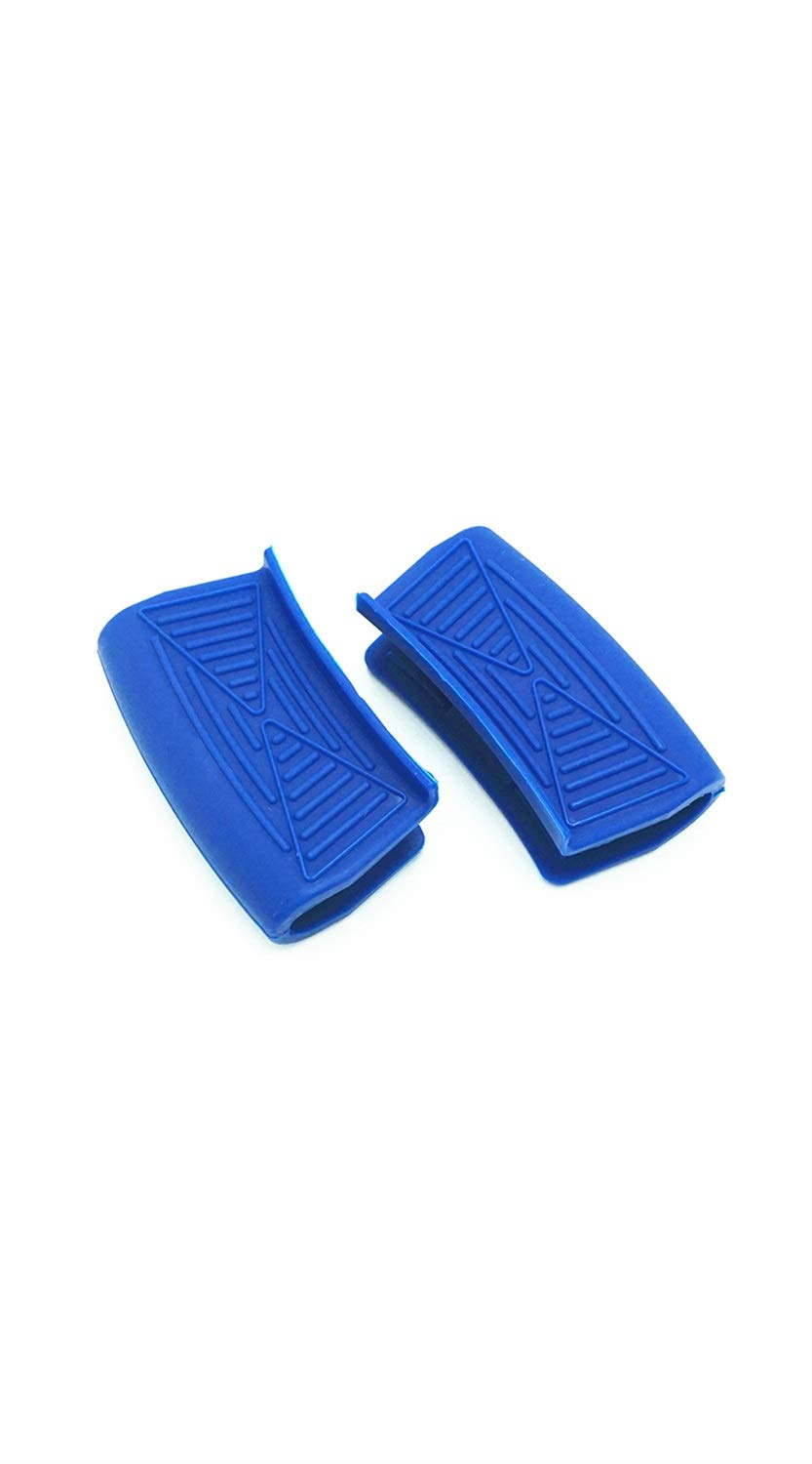 TYZP Silicone Hot Pot Handle Cover Heat Resist Insulation Pot Pan Handle Mini Non-Slip Pot Holder Grip (Color : Navy Blue) by TYZP