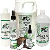 Fractionated Coconut Oil-MCT Oil, 6 Sizes Available, Certified Food and Therapeutic Grade, Carrier Oil, Massage Oil, Hydrating Oil, Hair Oil, 0 Additives, Organic Coconut, Pure Coconut Oil (32 Ounce)
