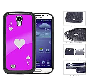 Ace Of Spade Pink Playing Card 2-Piece Dual Layer High Impact Rubber Silicone Cell Phone Case Samsung Galaxy S4 SIV I9500