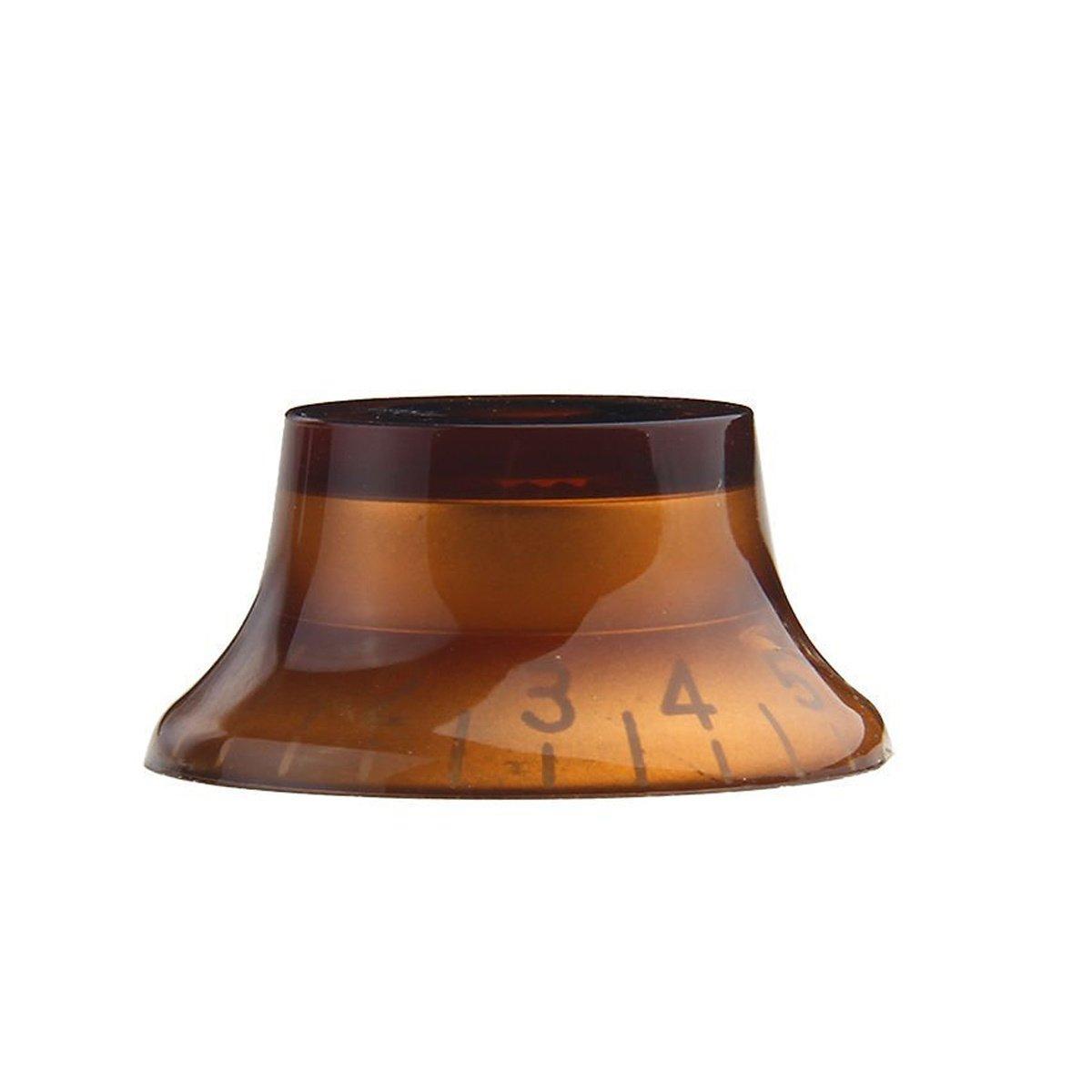 Musiclily Metrica 6mm Plastica Manopole Top Hat Knobs per Chitarra Tipo Gibson LP Oro 4 Pezzi