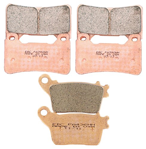 Race Cbr1000rr Honda - EBC Brakes EBPCK1001 Complete Double-H Sintered Brake Pad Change Kit
