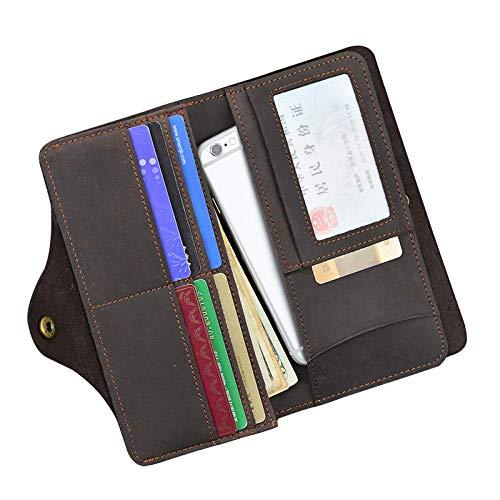 Cuir Pour Rétro De Boucle Téléphone Porte Portable Hommes cartes 30 cartes En Multi Homme Portefeuille qXq58w4v