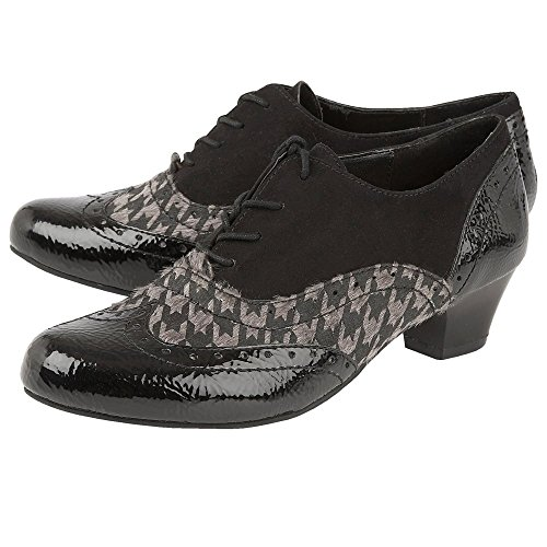 Noir étain Shiny Impression Black Lacets amp; Lotus Chaussures Otto Crinkle Crinkle Brillants anq5Xn6U1