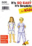 Simplicity 8490 Sewing Pattern Girls Boys Easy Pajamas Tops Bottoms Size 3 - 8