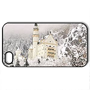 Beauty in a Snow - Case Cover for iPhone 4 and 4s (Watercolor style, Black)