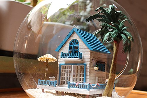 Youku Wooden Handmade Dollhouse Miniature DIY Kit- Glass ball Model  Furniture/Parts/Voice controller (1:24 Scale Dollhouse)