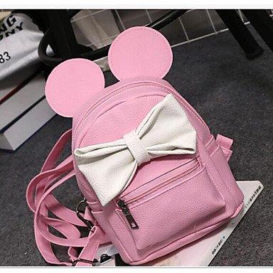 tutte Nero Pink le Zainetto Round PU Zipper arrossendo stagioni Bianco Donna Blushing Rosa Bianco Casual EqPxxCnF6w