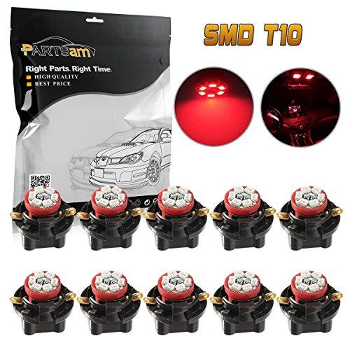 (Partsam T10 194 LED Light Bulb Instrument Panel Gauge Cluster Dashboard LED Lights with 5/8