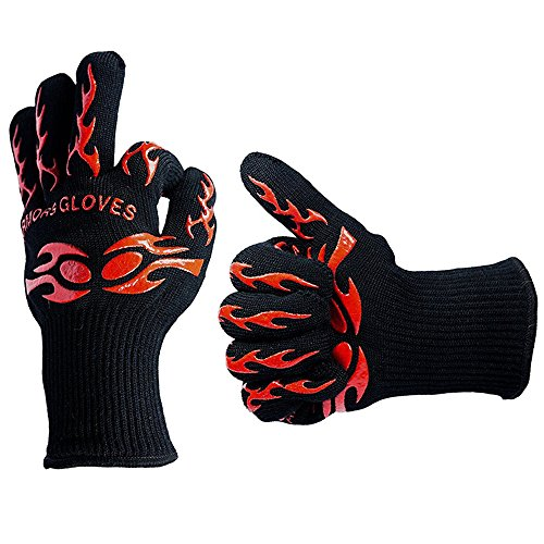 Fatmingo 932°F Heat Resistant BBQ Grilling Gloves Cooking g