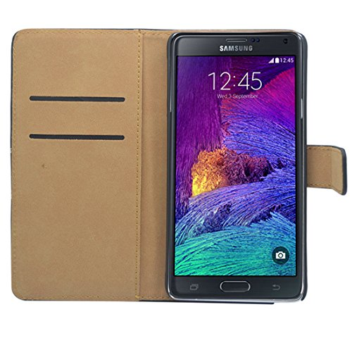 Premium Piel Flip Case–Samsung Galaxy A Series Smartphone Funda Flip Case Funda Cover Carcasa Funda–Thinkmobile Schwarz Brieftasche - Slim