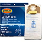 EnviroCare Replacement Vacuum Bags for Eureka RR, 61115 Boss Smart Vac 4800. 9 Pack, 9, White, 9 Count