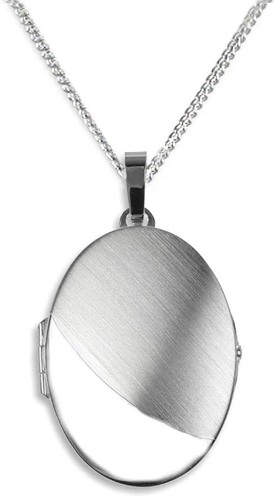 JOBO Damen-Medaillon aus 925 Silber Oval zum /Öffnen f/ür 2 Fotos