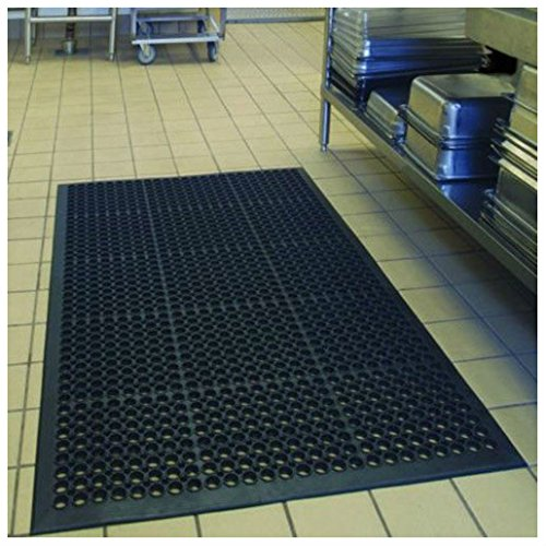Black Indoor Commercial Industrial Durable Anti-Fatigue Floor Mat 36'' x 60'' by Unknown (Image #2)
