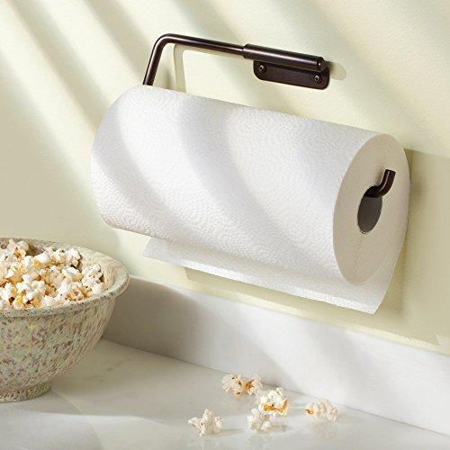 Cabinet mount paper towel holder