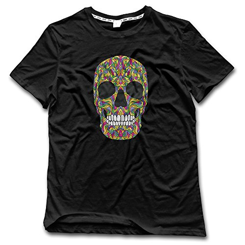 Men's Halloween Danger Skull Ghost Layouts Personalized T Shirts Fitted ()