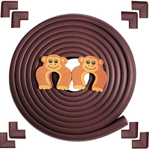 - Baby Proofing Safety Edge Corner Guards Protector|Furniture Padding|Simplife, Brown