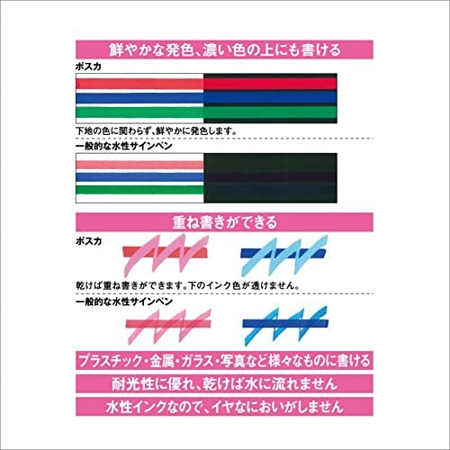 uniball Pigmentmarker POSCA PC3M 15er Etui farbig sort PC-3M15C