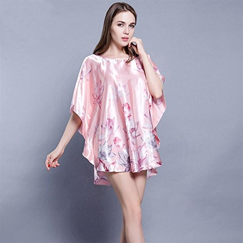 Strap Dressing Wanyne with Printed Nightdress Gowns Dress Gowns Ladies Lotus Dressing ZWfwqTpO