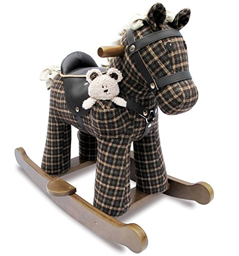 Little Bird Told Me Rufus & Ted Infant Wood Rocking Horse LB3018 by Little Bird Told Me
