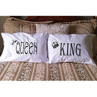 King & Queen Pillowcases - Couples Decorative Pillowcases