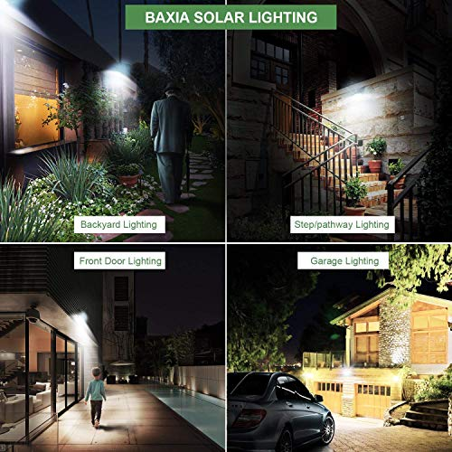 BAXIA TECHNOLOGY Outdoor Wireless 100 LED Solar Motion Sensor Waterproof Security Wall Lighting Outside for Front Door, Backyard, Steps, Garage, Garden (2000LM, 4PACK) by BAXIA TECHNOLOGY (Image #4)