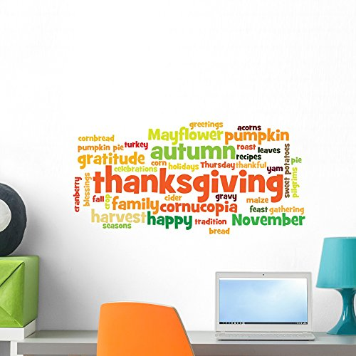 - Wallmonkeys Happy Thanksgiving Wall Decal Peel and Stick Graphic (24 in W x 14 in H) WM72022