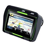 TOOGOO Updated 256M Ram 8Gb Flash 4.3 Inch Moto GPS Navigator Waterproof Bluetooth Motorcycle GPS Car Navigation Map of Europe