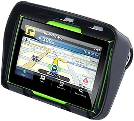 16G Pantalla Resistiva IPS de 5 Pulgadas Rojo Nrpfell Android 6.0 Motocicleta GPS Navegador a Prueba de Agua 1G