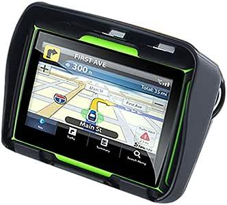 Cikuso Actualizado 256M Ram 8Gb Flash 4.3 Pulgadas Navegador GPS De Moto Impermeable Bluetooth GPS De Motocicleta Navegacion En Coche Mapa De Europa: Amazon.es: Coche y moto