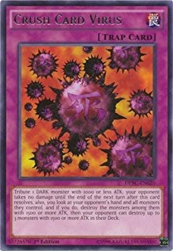 YU-GI-OH! - Crush Card Virus (DPBC-EN020) - Duelist Pack 16: Battle City - 1st Edition - Rare by: Amazon.es: Juguetes y juegos