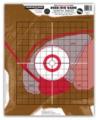 Hunting Target (Life Size Deer Vitals - Paper Gun & Bow Hunting Shooting Targets 15x19 Inch (10)