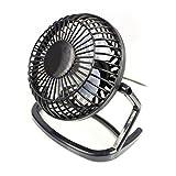 """4"""" Portable Retro USB Fan - BLACK - Light-Weight Portable Desk Fan (4 inch)"""